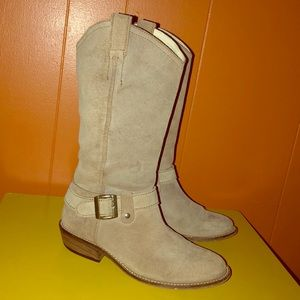 Steve Madden Lawson Tan Suede Western Style Boots